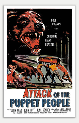 "Attack of the Puppet People - 11"" x 17""  Movie Poster"