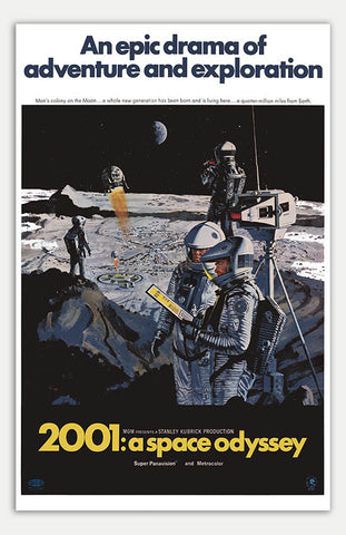 "2001: A Space Odyssey - 11"" x 17""  Movie Poster"