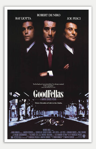 "Goodfellas - 11"" x 17""  Movie Poster"