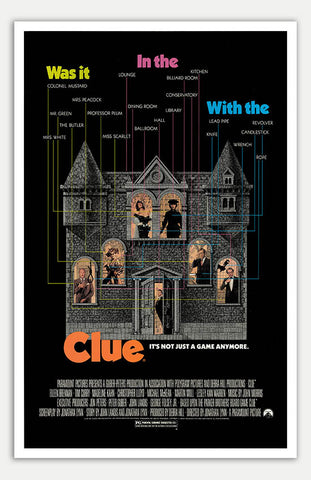 "Clue - 11"" x 17""  Movie Poster"