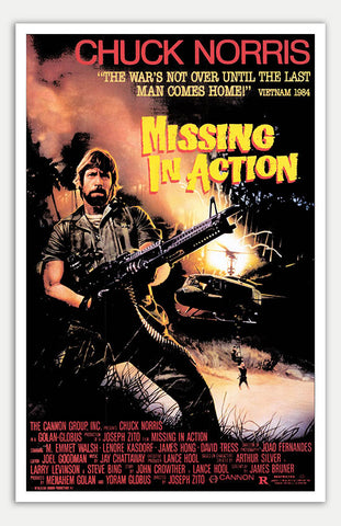 "Missing in Action - 11"" x 17""  Movie Poster"