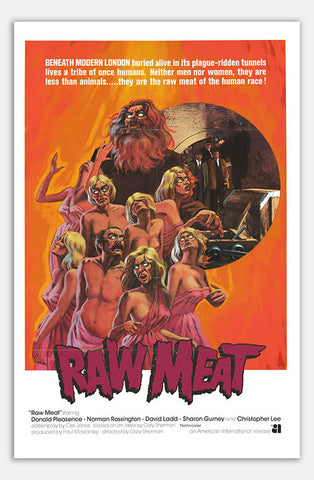 "Raw Meat - 11"" x 17""  Movie Poster"