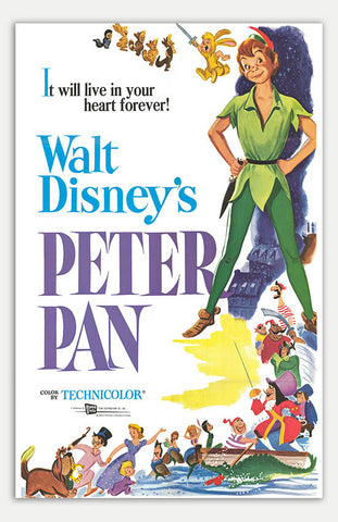 "Peter Pan - 11"" x 17""  Movie Poster"