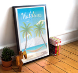 "Maldives Travel Poster - 11"" x 17"" Poster"