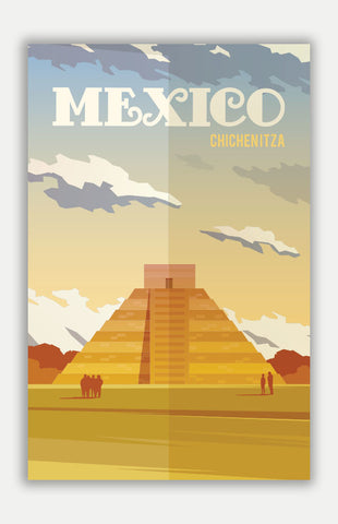 "Mexico Travel Poster - 11"" x 17"" Poster"