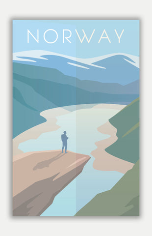 "Norway Travel Poster - 11"" x 17"" Poster"