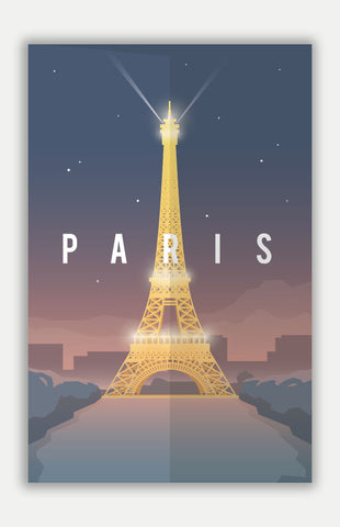 "Paris Travel Poster - 11"" x 17"" Poster"