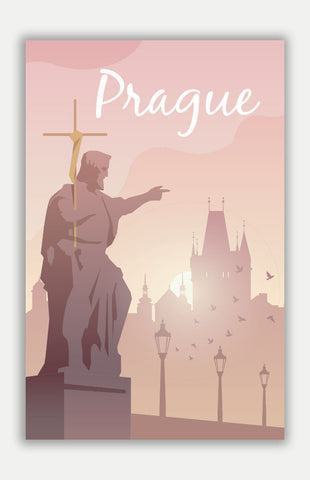 "Prague Travel Poster - 11"" x 17"" Poster"