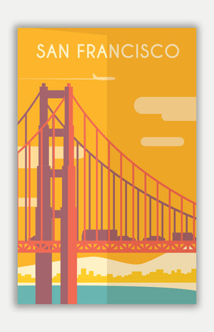 "San Francisco Travel Poster - 11"" x 17"" Poster"