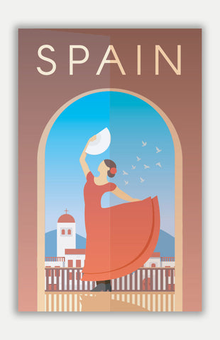"Spain Travel Poster - 11"" x 17"" Poster"