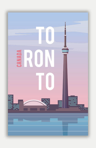 "Toronto Travel Poster - 11"" x 17"" Poster"