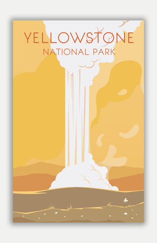 "Yellowstone Travel Poster - 11"" x 17"" Poster"
