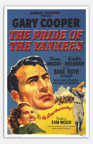 "Pride Of The Yankees - 11"" x 17""  Movie Poster"