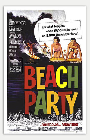 "Beach Party - 11"" x 17""  Movie Poster"