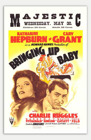 "Bringing Up Baby - 11"" x 17""  Movie Poster"