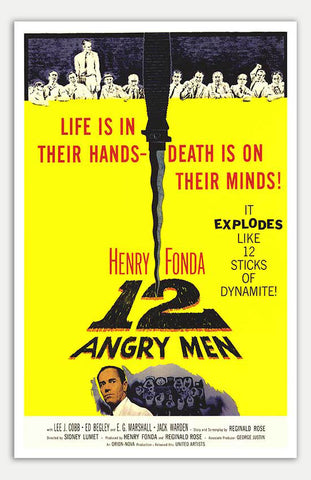 "12 Angry Men - 11"" x 17""  Movie Poster"