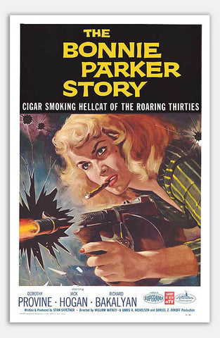 "Bonnie Parker Story - 11"" x 17""  Movie Poster"