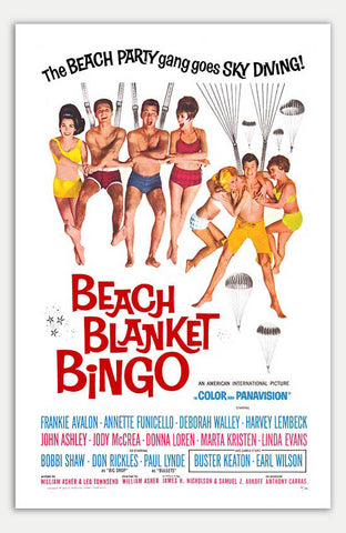 "Beach Blanket Bingo - 11"" x 17""  Movie Poster"