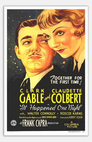 "It Happened One Night - 11"" x 17""  Movie Poster"