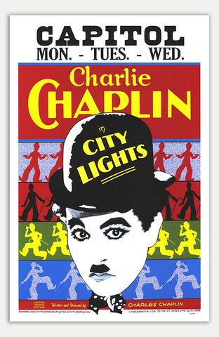 "City Lights - 11"" x 17""  Movie Poster"