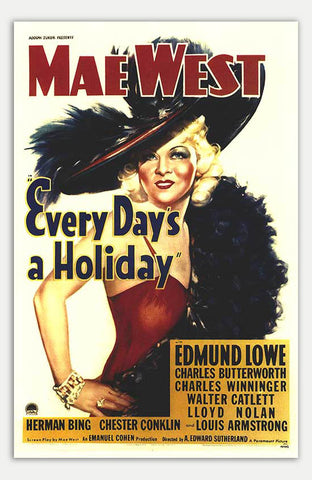 "Every Day's A Holiday - 11"" x 17""  Movie Poster"