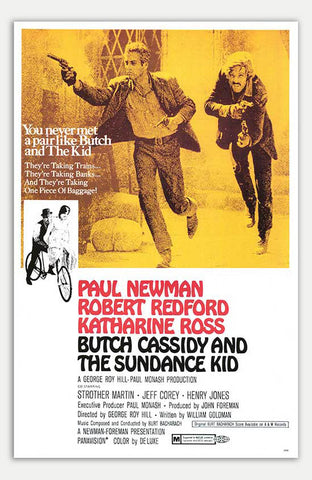 "Butch Cassidy And The Sundance Kid - 11"" x 17""  Movie Poster"
