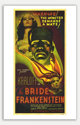 "Bride Of Frankenstein - 11"" x 17""  Movie Poster"
