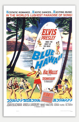 "Blue Hawaii - 11"" x 17""  Movie Poster"