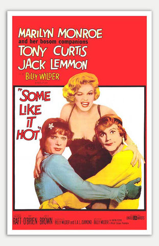 "Some Like It Hot - 11"" x 17""  Movie Poster"