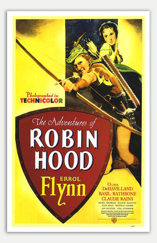 "Adventures Of Robin Hood - 11"" x 17""  Movie Poster"