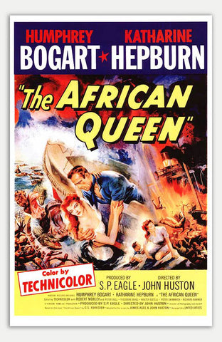 "African Queen - 11"" x 17""  Movie Poster"