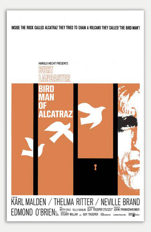 "Birdman Of Alcatraz - 11"" x 17""  Movie Poster"