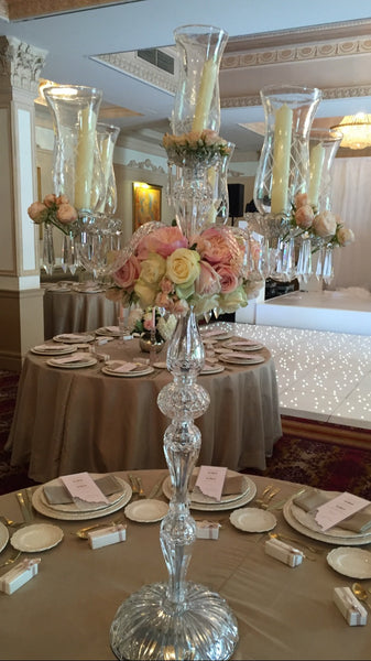 Crystal Candelabra Decorations.
