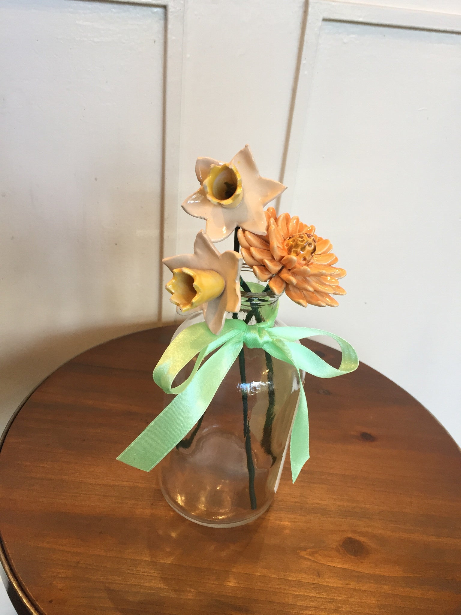 Ceramic flower arrangement