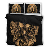 Golden Cocker Spaniel Premium Duvet Bedding Set