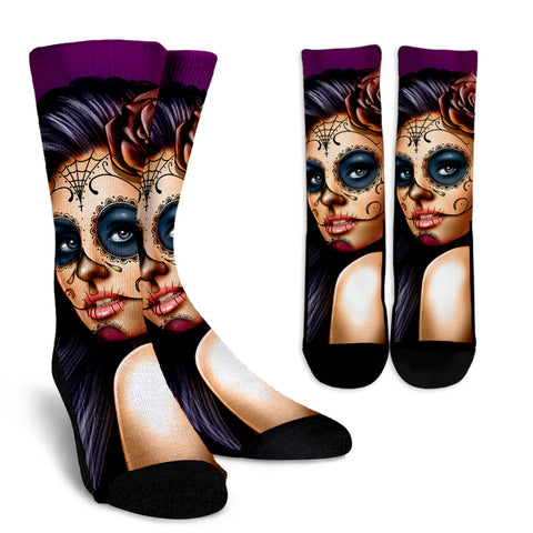 Calavera Collection Crew Socks