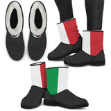 Flag Of Italy Faux Fur Boots