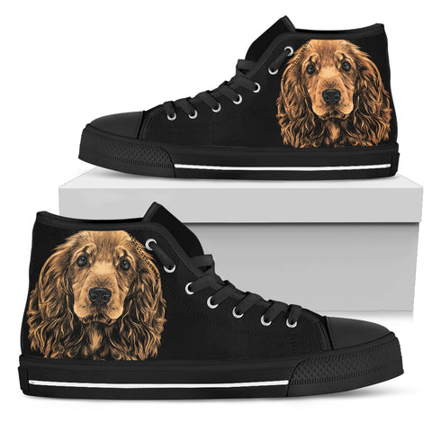 Cocker Spaniel Women's High Top Shoes