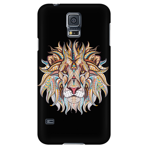 Ethnic Collection Phone Case - Lion - Black
