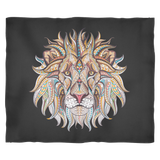 Ethnic Collection Blanket - Lion - Black