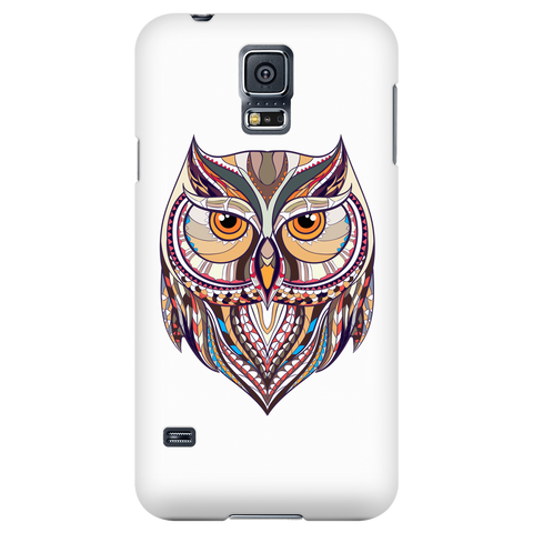 Ethnic Collection Phone Case - Owl - White