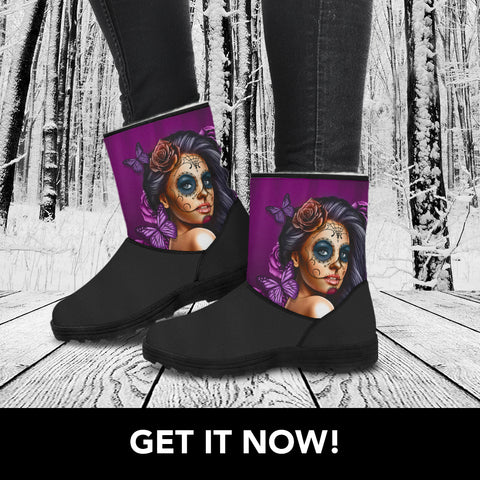 Calavera Collection Faux Fur Boots