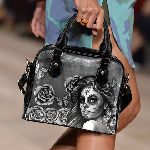 Calavera Collection Shoulder Leather Handbag
