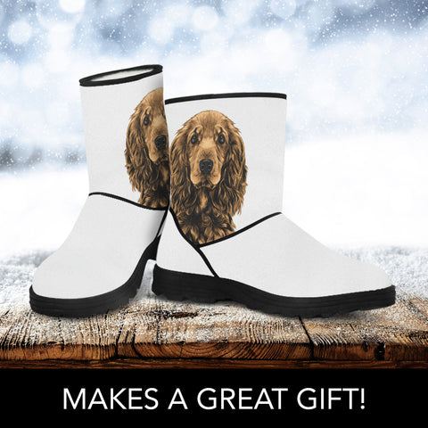 Cocker Spaniel Faux Fur Boots