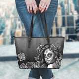 Calavera Collection Small Leather Tote