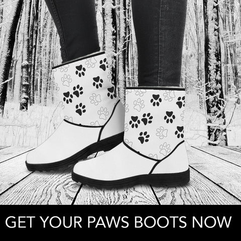 Black Paws Faux Fur Boots