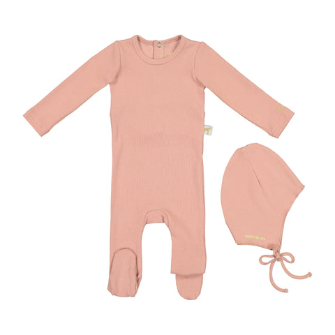 Zeebra Kids Ribbed Baby Set - Pink