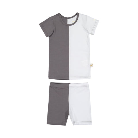 Zeebra Kids Color Block Set - Grey/White
