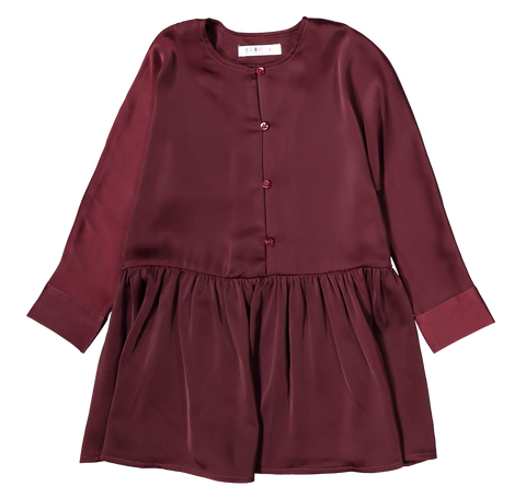Coco Blanc Swing Dress - Maroon