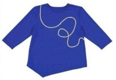 Three Bows Asymmetric Squiggle Top - Blue